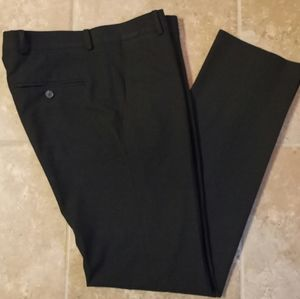 Mens Super Slim Fit Blk Stretch Dress Pants 30x32